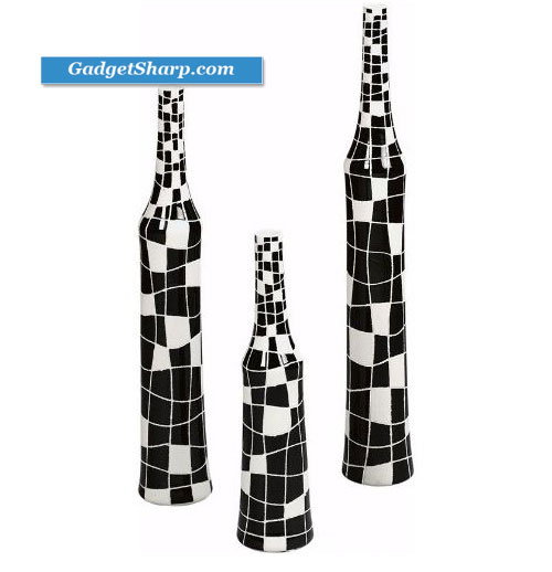 Crossword 3 piece Vase Set