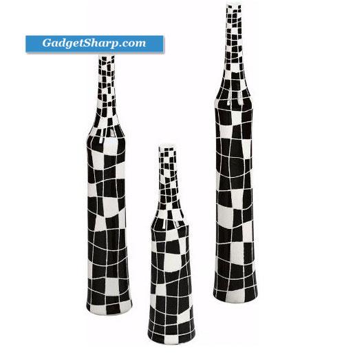 Crossword 3 piece Vase Set