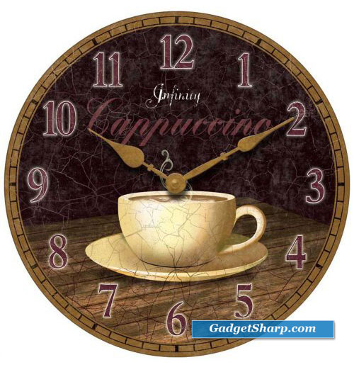 Infinity Instruments Dreamy Cappuccino Wall Clock