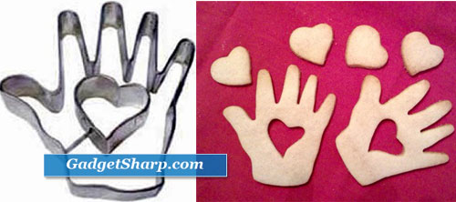 R & M Heart in Hand Cookie Cutter