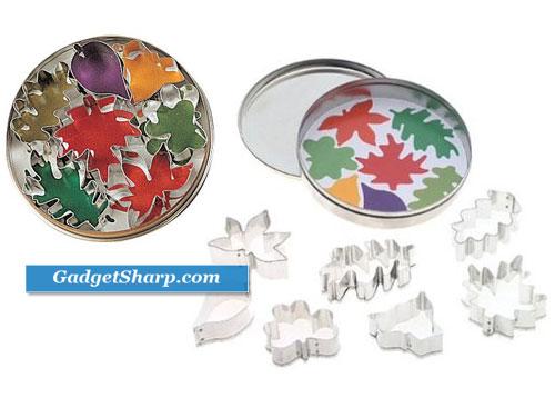 Harold's Kitchen Leaf Cookie Cutter Set