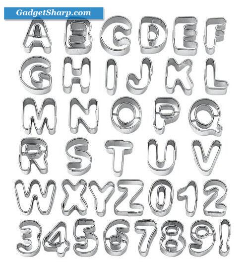 Wilton Fondant Alphabet Number Cookie Cutter Cut Outs