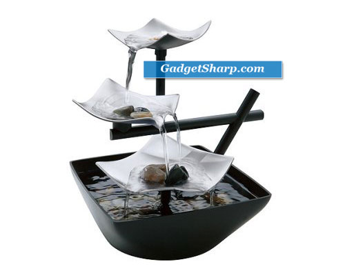 HoMedics EnviraScape Silver Springs Illuminated Relaxation Fountain