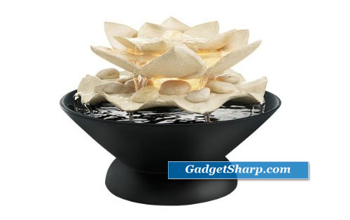 Envirascape Mariposa Illuminated Relaxation Fountain with Natural Stones
