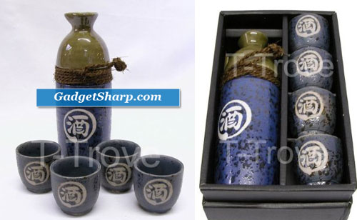 Sake Set with Alcohol Character
