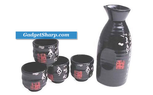 Calligraphy Designed Porcelain Sake set