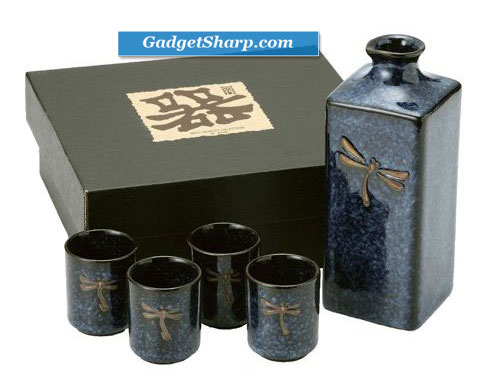 5 pc Japanese sake set BDF