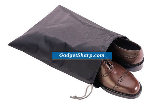 Black Travel Shoe Bag Organize Storage Clean Neat