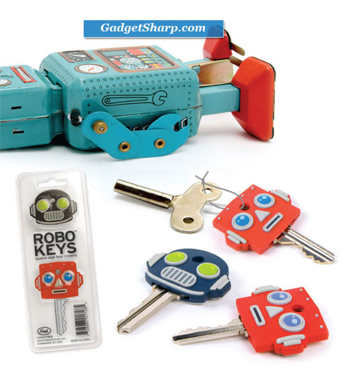 ROBO keys ROBOT car house KEY COVERS caps identifiers