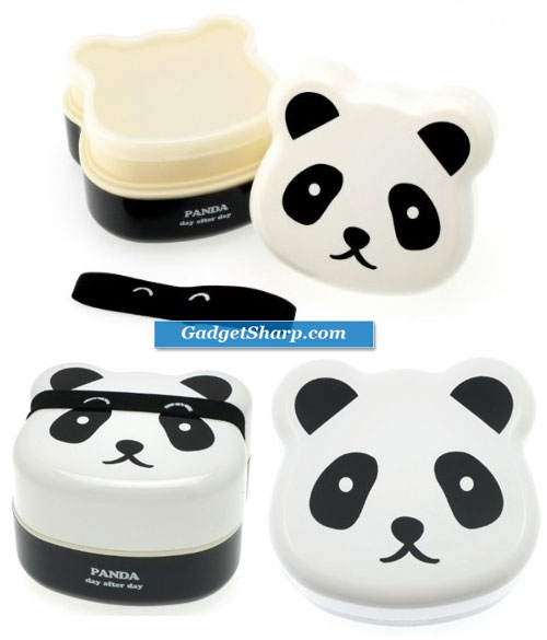 2-Tiered Bento Box, Panda Face