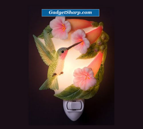 Hummingbird & Trumpet Vine Night Light