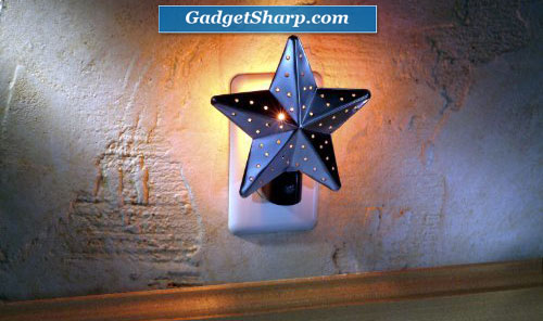 Tin Star Night Light