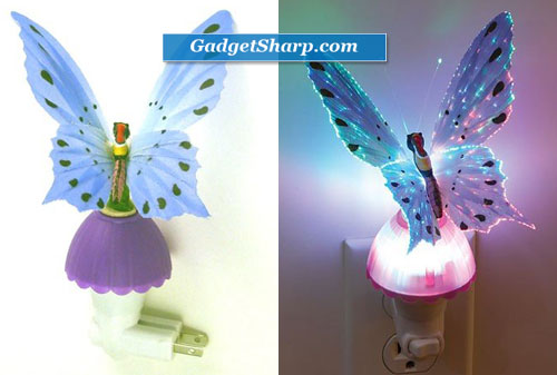 Butterfly Optic Fiber Color Changing Night Light Show
