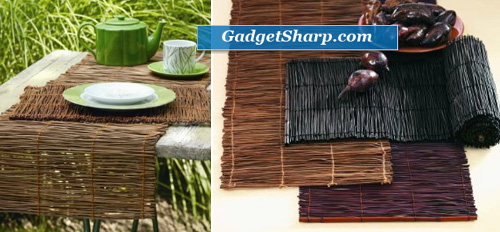 Tag Fresh Herbs Twig Table Runner