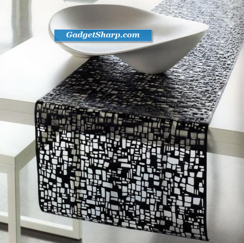 Cubic Table Runner Black