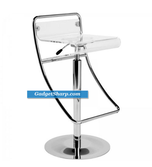 ItalModern Angelo Low Back Adjustable Height Swivel Stool