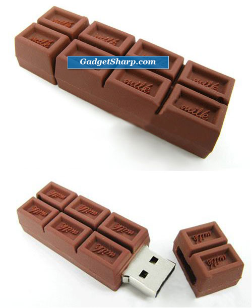 Chocolate 4GB USB 2.0 Flash Drive