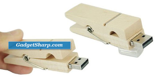 4GB Clothespin USB 2.0 Flash Drive