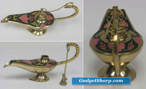 Aladdin Lamp - Ornate Genie Incense Burner