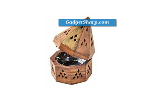 5 Temple Wooden Charcoal/Cone Burner