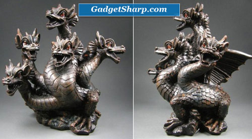 Elegant Expressions 5 Headed Smoke Breathing Dragon Incense Burner