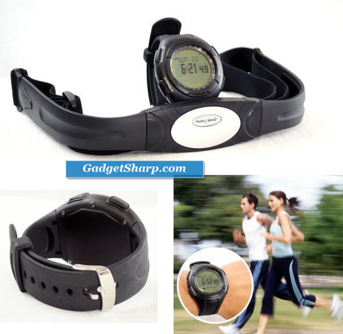 All-In-One Waterproof Heart Rate Monitor Watch and Transmitter Chest Belt