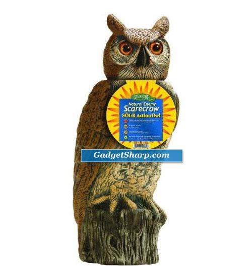 Dalen Prod. SRHO 4 Solar Owl Natural Scarecrow Device