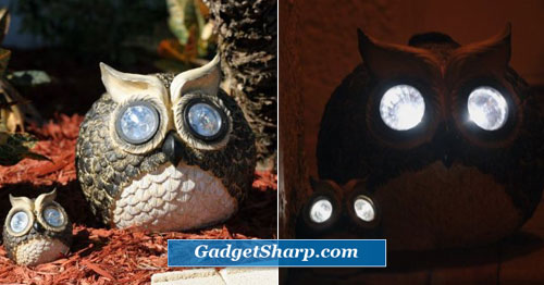 Solar Owl Accent Lights