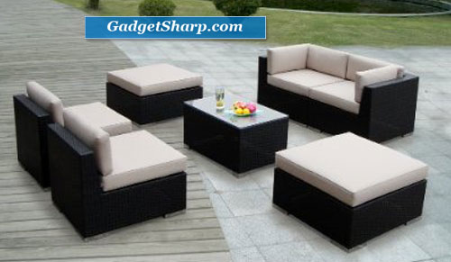 14 modern and contemporary patio furniture sets gadget sharp rh gadgetsharp com Patio Furniture Conversation Sets Small Patio Furniture Sets