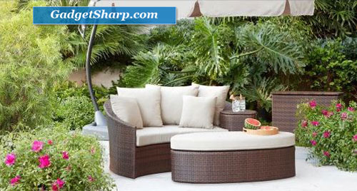 Rolston Wicker Patio Daybed
