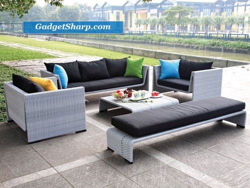 Modern Outdoor Gray Sofa Patio Set