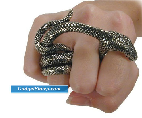 Adder Bite Alchemy Gothic Snake Ring