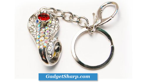 Fun Crystal Aurora Boreale Hissing Cobra Snake Keychain