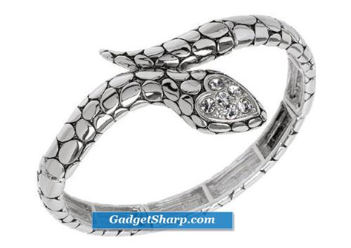 Pola's Silver Snake Bracelet
