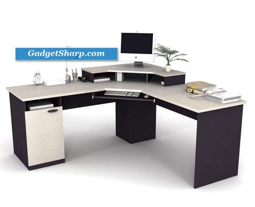 Bestar Hampton Home Office Corner Computer Desk