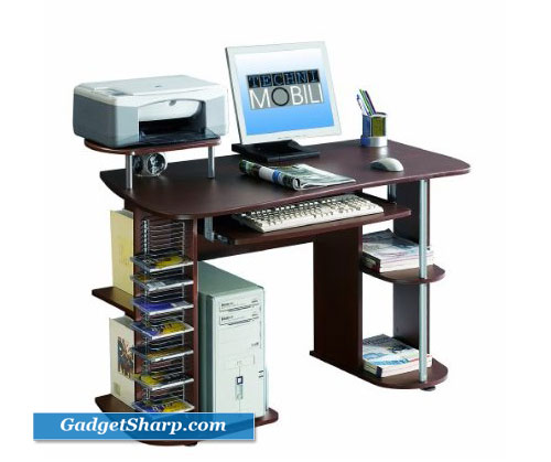 Compact Computer Desk with Storage