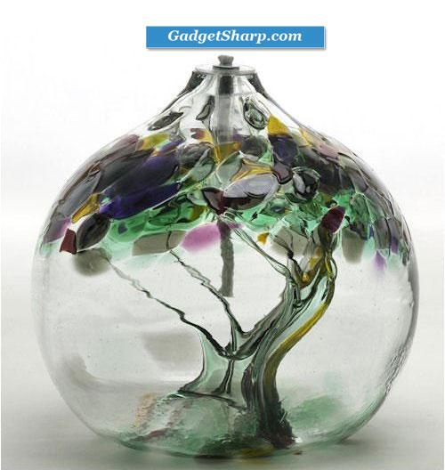 Kitras Art Glass - Oil Lamp