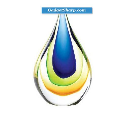 Art Glass Colored Decorative Table Top Teardrop Decor