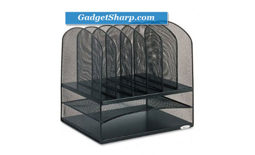 Safco Mesh Desk Organizer with Two Horizontal and Six Upright Sections