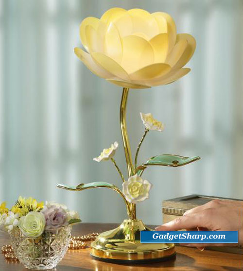 Lotus Flower Touch Table Lamp by Winston Brands