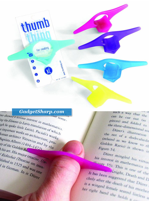 Thumb Thing Book Page Holder and Bookmark