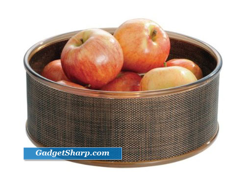 InterDesign Twillo Fruit Bowl, Bronze/Sand