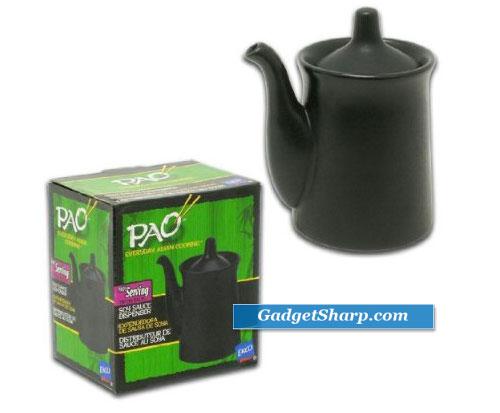 Black Ceramic Soy Sauce Dispenser