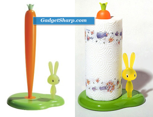 A di Alessi Bunny and Carrot Paper Towel Holder