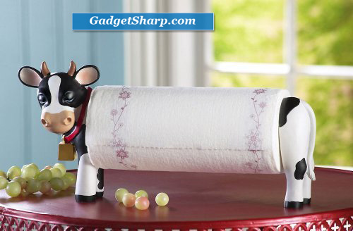 Decorative Country Cow Paper Towel Holder
