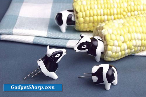 Charcoal Companion Cow Corn Holders