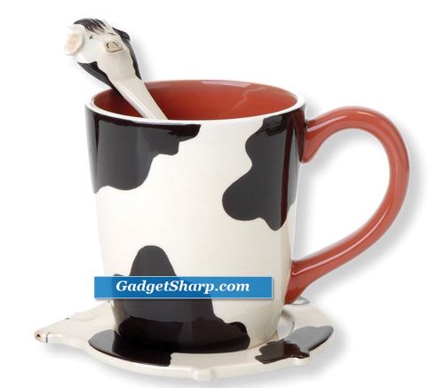 Clay Art Free Range Cow Mug 3-Piece Set