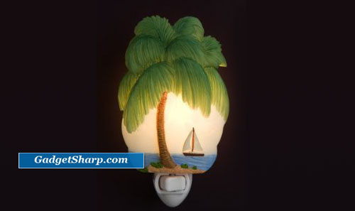 Palm Tree Tropical Isle Night Light