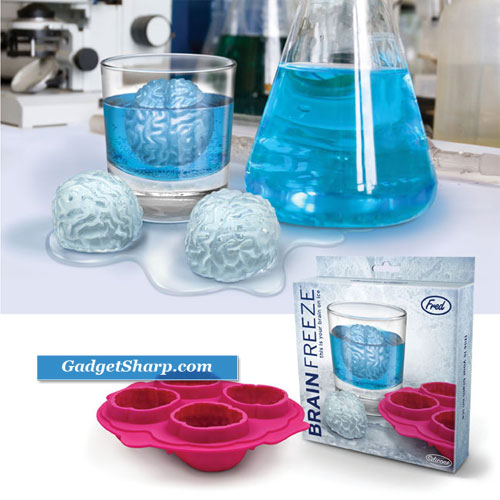 Fun Freeze Brain Shaped Ice Cube Tray