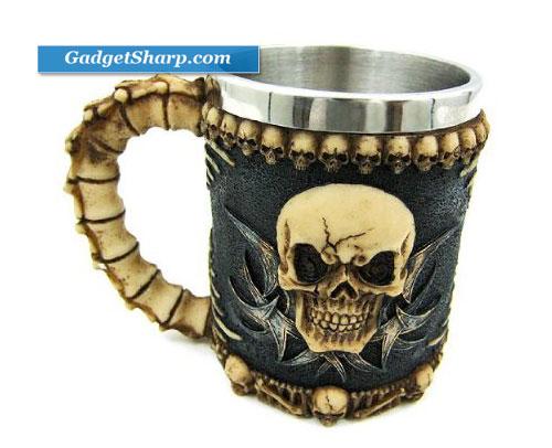 Gothic Tribal Skull Tankard Coffee Mug Cup